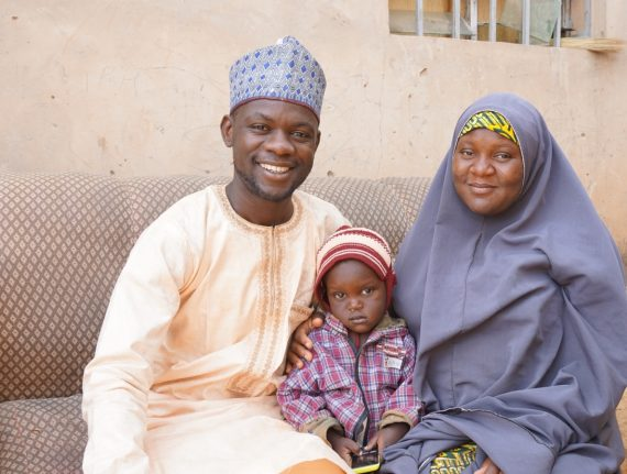 Family in Wudil, Kano State who have benefited from MNCH2.